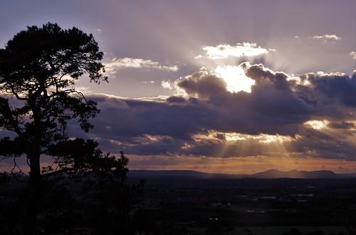 sunset sun shine rays light shropshire