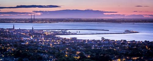 city ireland sunset water architecture buildings evening coast twilight europe ie bays seas harbours countydublin irishsea dunlaoghaire dublinbay dunlaoghaireharbour dunlaoghairerathdown