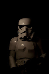 Trooper in the shadows