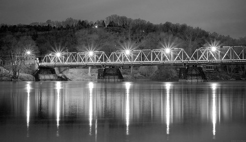 longexposure bridge blackandwhite bw night olympus f18 frenchtown 45mm afterdark omd m43 em10 primelens micro43 microfourthirds olympusmzuiko45mmf18 omdem10