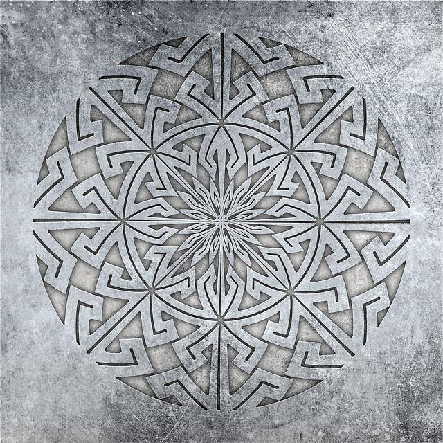 circular key pattern