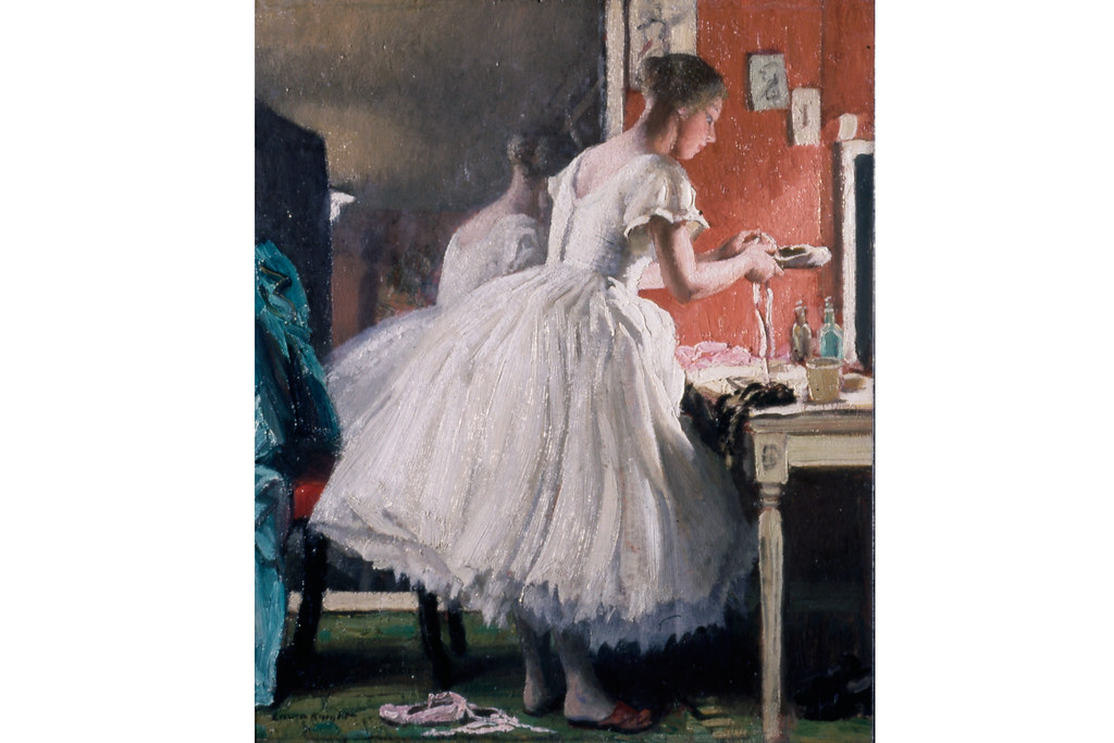 Dame Laura Knight (1877-1970), The Ballet Shoe c1932, Courtesy of The Laura Knight Estate / Royal Pavilion & Museums, Brighton & Hove