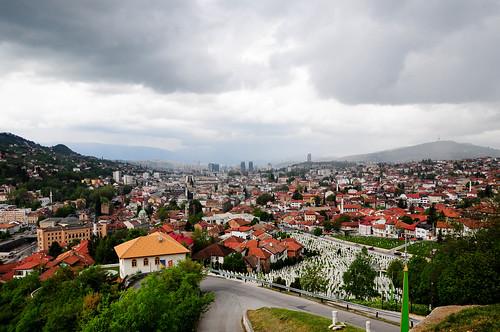 sarajevo bosnia city urban view travel homecountry clouds weather buildings balkan bosniaandhercegovina