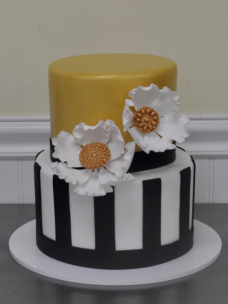 Enjoyable Classy Birthday Cake Fantasy Flowers And Brooches With Gol Flickr Funny Birthday Cards Online Overcheapnameinfo