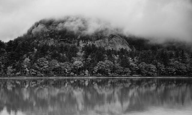 Echo Lake in North Conway, NH B/W