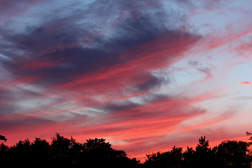 sunsetphotography sunsets sunset bereaohio cloudsandsky clouds sky red pink