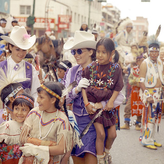 Calgary Stampede Queens and First Nations children