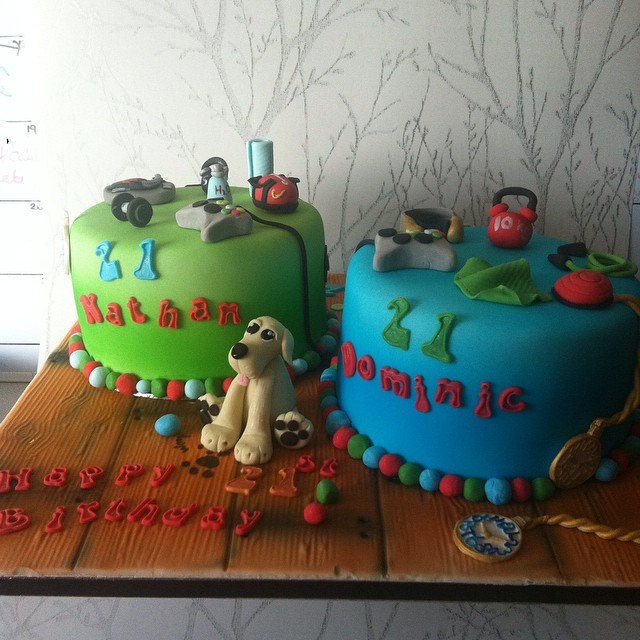 21st Birthday Cake For Lovely Twin Boys