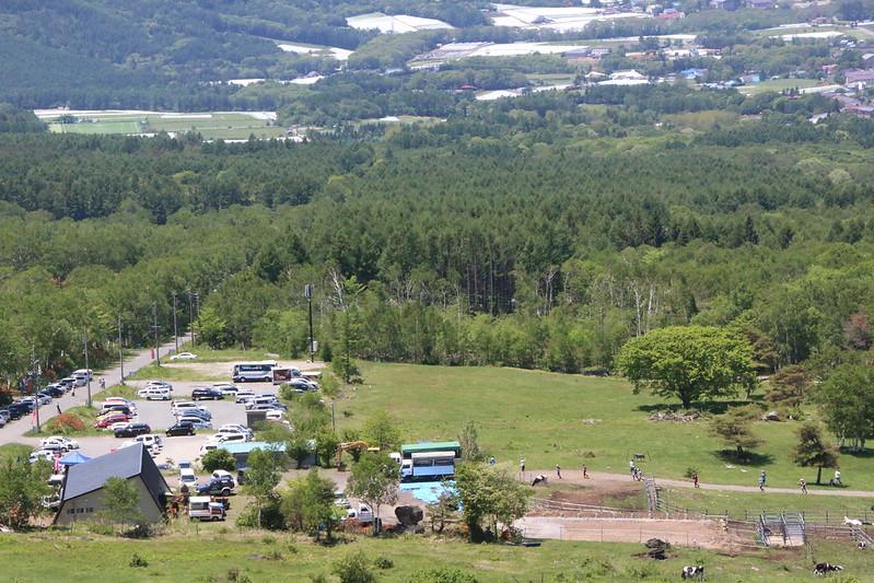 根子岳の牧場
