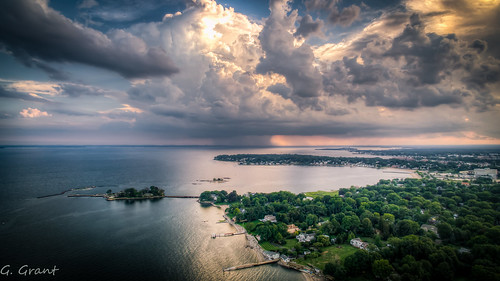 stamford connecticut unitedstates us hdr drone wideangle contrast aeriallandscape aerialview aerialphotography stamfordconnecticut summer clouds sky majestic beautifulcapture thunderstorm weather djiphantom3 highdynamicrange cloudporn amateurphotography amazing