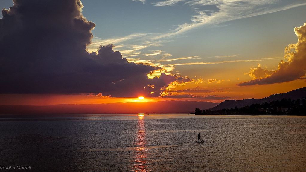Sunset. Montreux. Just because...