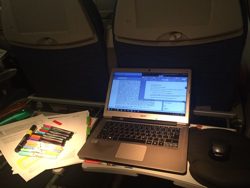 AcWri highlighting and scribbling while on airplanes | by Raul P