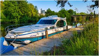 Hausbooturlaub 2018-Glénac/Bretagne, Anleger in St-Congard