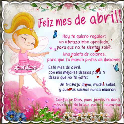 Feliz Mes De Abril Amigas Ifttt2egmoj2 Leer Más Flickr