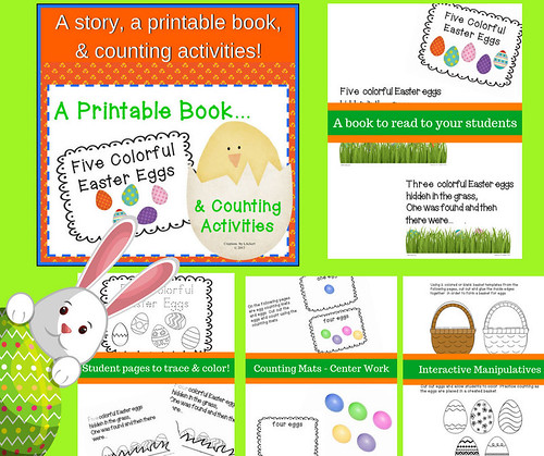 Five Colorful Easter Eggs - A Story, Worksheets and Acitivities | by CHSH-Teach