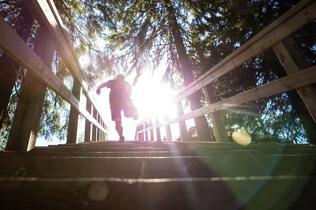 Running Tahko stairway