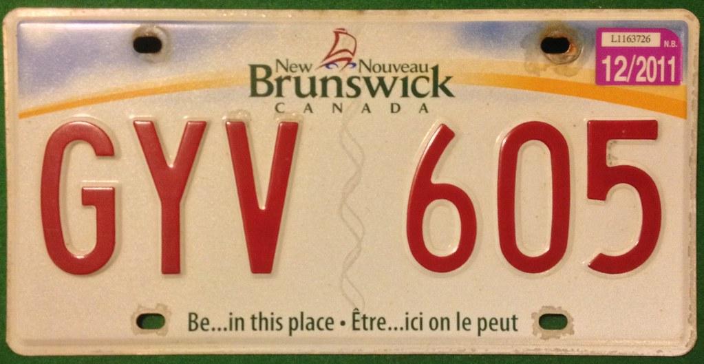 NEW BRUNSWICK 2011 ---BILINGUAL SLOGAN LICENSE PLATE | Flickr