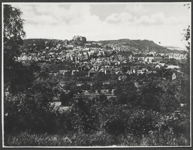 Archiv V007 Stadtpanorama Marburg, 1920er