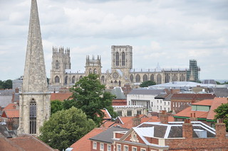 York St. Mary's church and York Minster seen from atop Clifford's Tower | by Lee Bennett