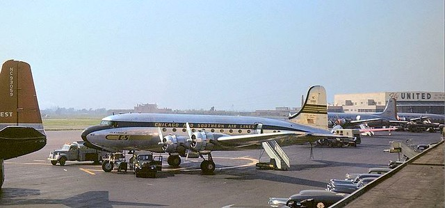 Chicago Municipal Airport - Chicago and Southern Air Lines - C-54B (DC-4)