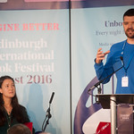 Sarah Howe & William Letford   Two of the most powerful young voices in British poetry open the Book Festival 2016 © Alan McCredie