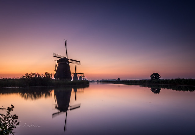 Early morning in Kinderdijk