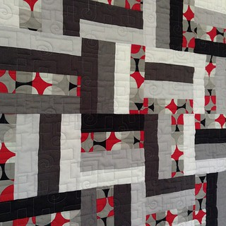Grey rail fence quilt pieced by James @greensaber25 for @AustinMQG charity donation 💝 | by gina pina