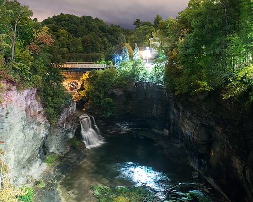canyon bridge sonya7s nikkor35mmf14 night waterfall corneluniversity gorge