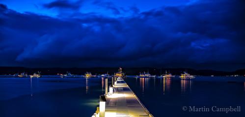 blue sea water night clouds landscape boats pier washington dock nightscape union resort stormyweather hoodcanal alderbrookrestortspa