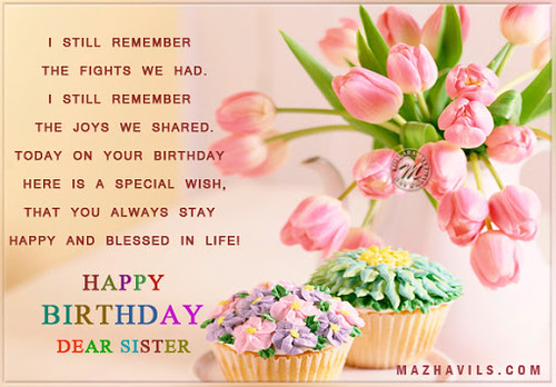 Fine Happy Birthday Quotes For Little Sister Via Quotes Gallery Flickr Funny Birthday Cards Online Inifofree Goldxyz