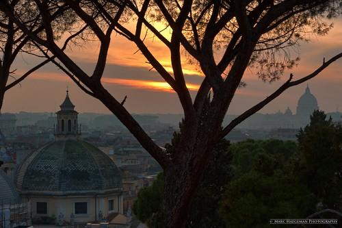 winter italy orange vatican rome roma italia mood sunsets sanpietro atmospheric lazio piazzadelpopolo marchaegeman nikon70200mmf28vr nikond700 ilpincio