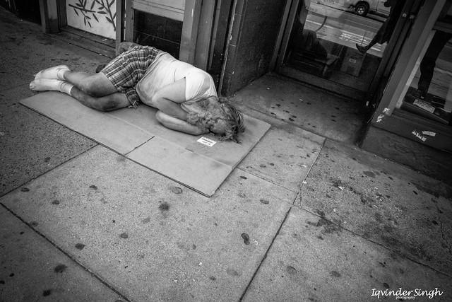 Nap time in San Francisco, California.