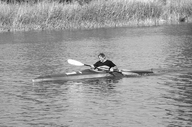Paddelboot auf der Donau