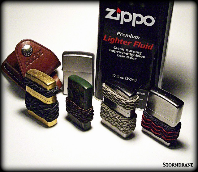 Zippo lighters and knot work