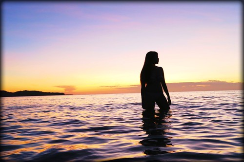 sunset sea beach canong7x