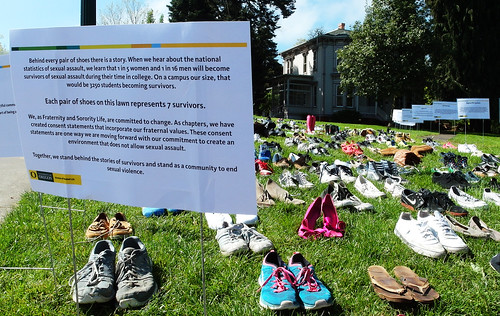 Behind every pair of shoes are 7 survivors of campus sexual assault | by Wolfram Burner