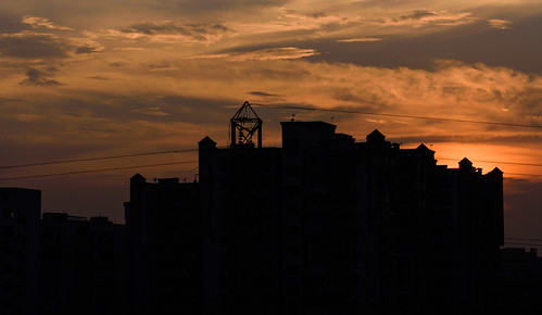 delhi india newdelhi nikkor70300 nikond750 handheld evening sunset silhouette sky color nature outdoor