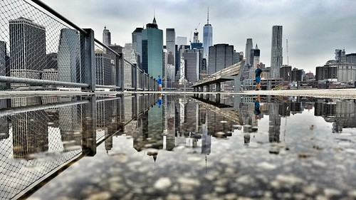 skyline nyc puddle puddlegram puddlemasters panorama city manhattan newyorkcity cityscape reflection embankment skyscraper skyscrapers towers buildings architecture after rain