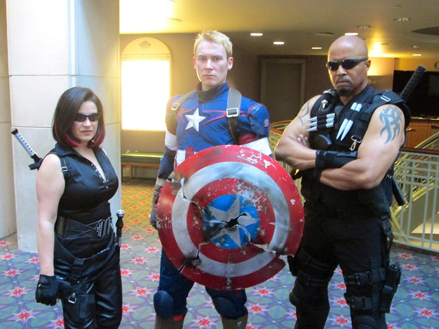 Blade and Captain America