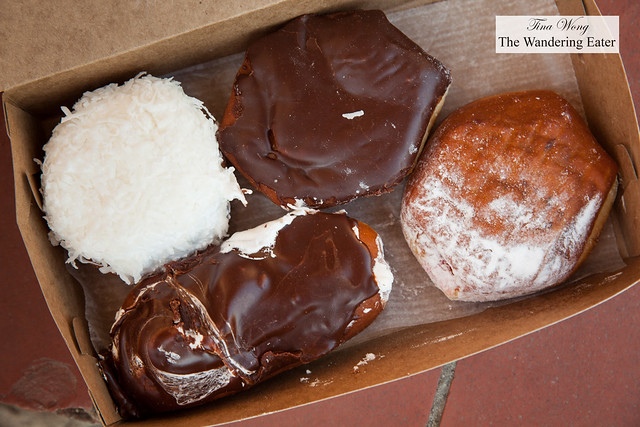 Our assortment of doughnuts from Hoehn's Bakery
