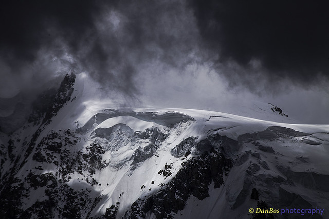 Mont Blanc in the dark