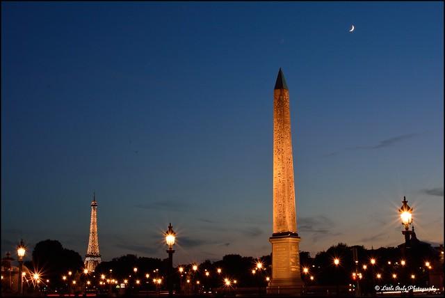 Moon lit Night - Obélisque de Louxor