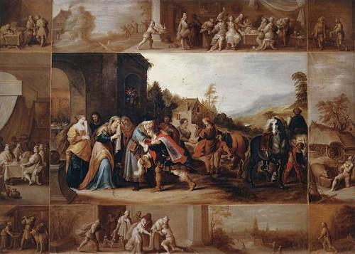 la parabola del hijo prodigo de Frans Francken III