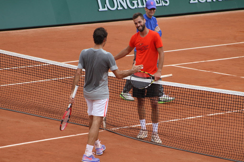 Federer and Paire