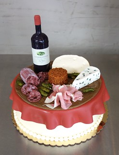 Pleasant Charcuterie Wine And Cheese Cake Sasa Flickr Funny Birthday Cards Online Elaedamsfinfo