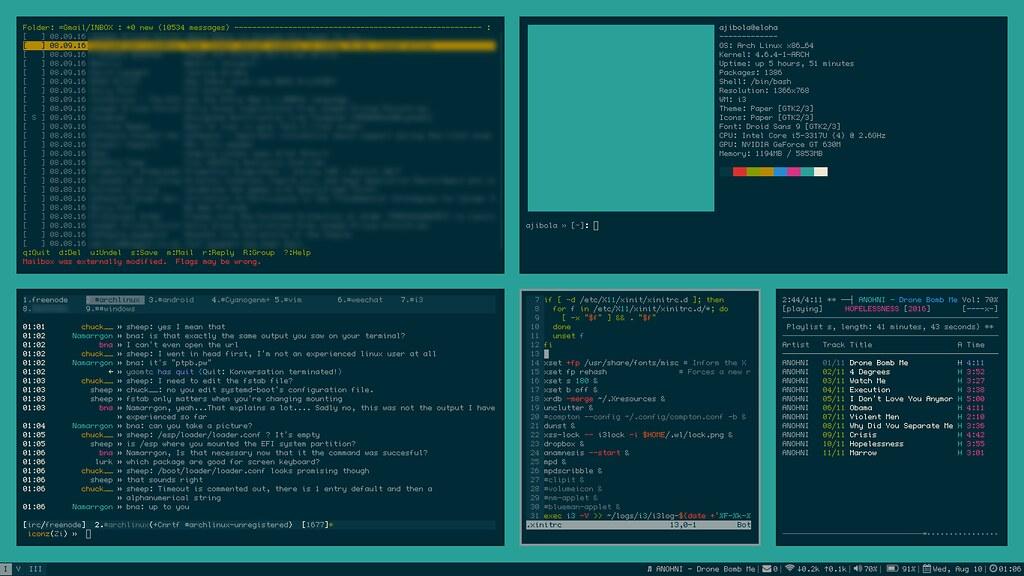 i3-gaps with solarized colors | ArchLinux running i3 Window … | Flickr