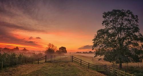 mist misty sunrise dawn moody pano derbyshire panoramic stitched sawley nikon18105mm nikond7000