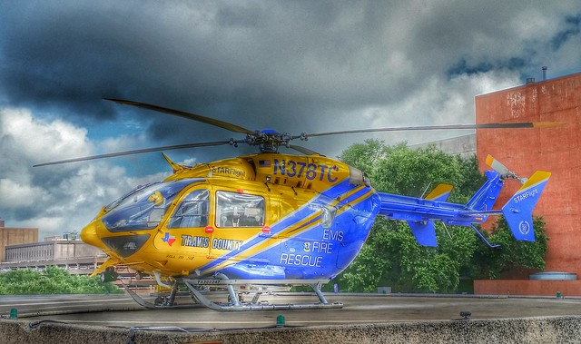 Travis County, TX STAR Flight Rescue EMS Eurocopter EC-145 Helicopter in HDR