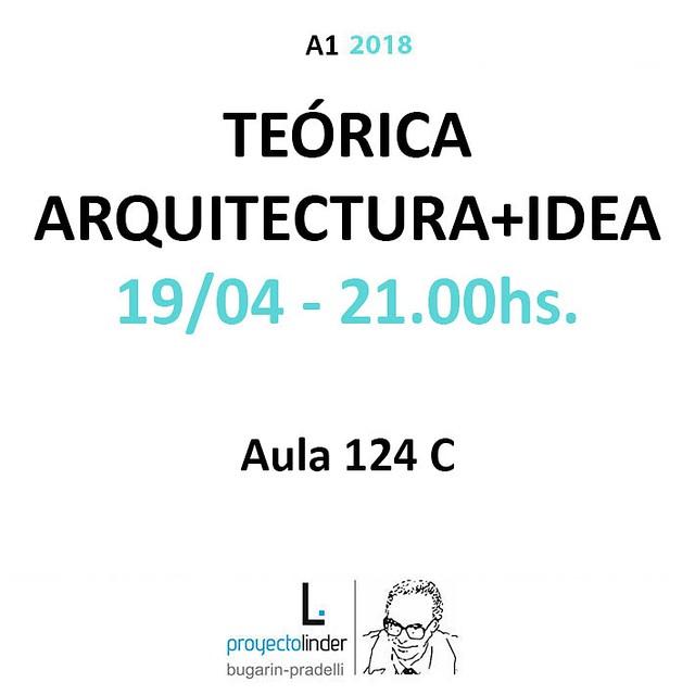 Mañana tenemos la teórica de Arquitectura+Idea. los esperamos!  https://arquitectura1proyectolinder.wordpress.com/