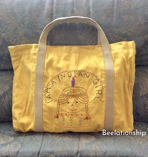 Indian Girl Tote Bag | by Beelationship Embroidery Studio